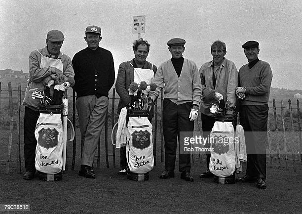 Golf 1965 Ryder Cup Birkdale Lancashire America 19 1/2 v Great Britain and Ireland 12 1/2 USA Golfers Don January Gene Littler and Billy Casper with...