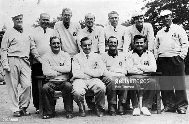 Golf 1969 Ryder Cup A group picture of the Great Britain and Northern Ireland team J Panton J Adams BJ Hunt EC Brown H Weetman P Alliss H Bradshaw F...