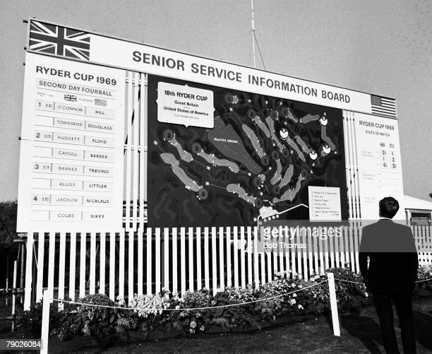 Golf, 1969 Ryder Cup at Royal Birkdale, A picture of the scoreboard display