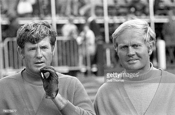 Golf 1970 British Open Championshipat St Andrews A portrait of Doug Sanders of the USA with Jack Nicklaus also of the USA who he lost against during...