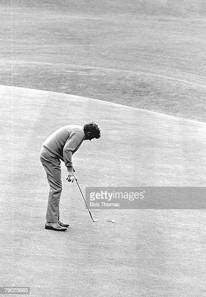Golf 1970 British Open Championshipn at St Andrews A picture of Doug Sanders of the USA as he misses the vital putt on the 18th during the playoff...