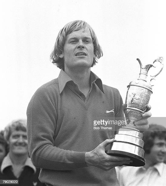 Golf 1976 British Open Championship at Birkdale A picture of Johnny Miller of the USA holding the Claret jug
