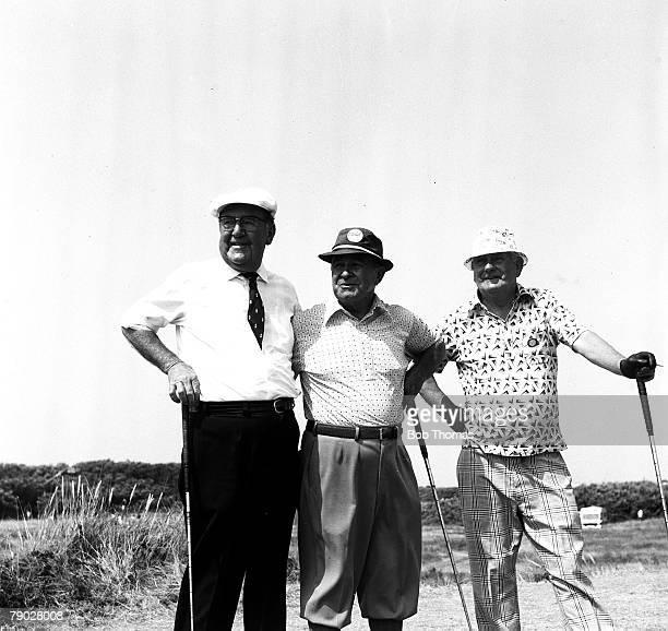 Golf 1976 British Open Golf Championship Royal Birkdale Famous golf trio lr Bobby LockeGene Sarazen and Fred Daly