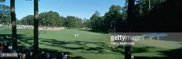 Golf 1997 Masters Panoramic scenic view of 13th hole Amen Corner at Augusta National Augusta GA 4/13/1997