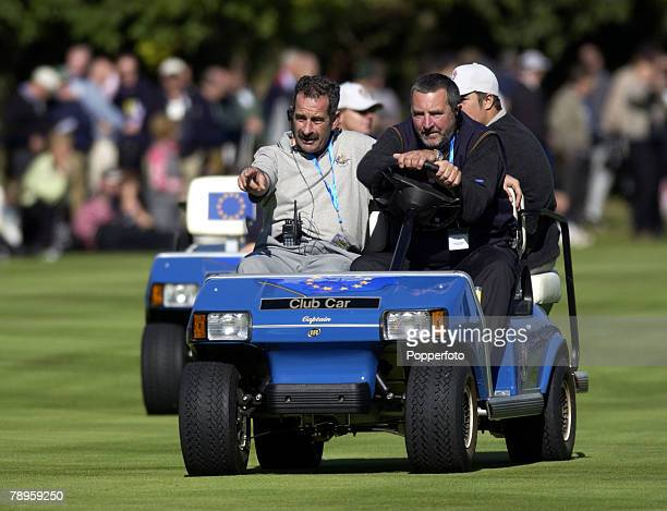 Golf, 34th Ryder Cup Matches, The Belfry, England, 26th September 2002, Europe 15 1/2 beat USA 12 1/2, European captain Sam Torrance is pictured...