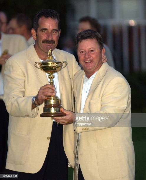 Golf 34th Ryder Cup Matches The Belfry England 29th September 2002 Europe 15 1/2 beat USA 12 1/2 Europe's captain Sam Torrance and assistant Ian...