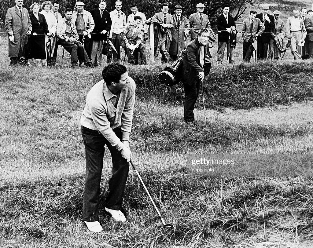 Golf, 3rd July 1958, Peter Thomson of Australia pictured during the British open golf championship at Royal Lytham St Annes golf course : News Photo
