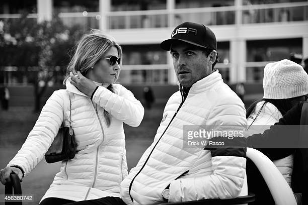 40th Ryder Cup Team USA Keegan Bradley and girlfriend Jillian Stacey during Saturday Foursomes Matches on PGA Centenary Course at The Gleneagles...