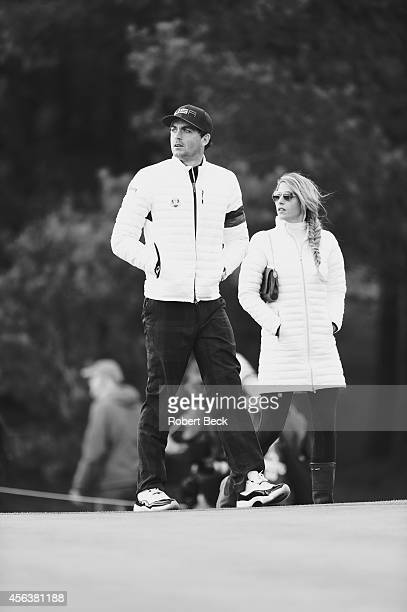 40th Ryder Cup Team USA Keegan Bradley with his girlfriend Jillian Stacey during Saturday Foursomes Matches on PGA Centenary Course at The Gleneagles...