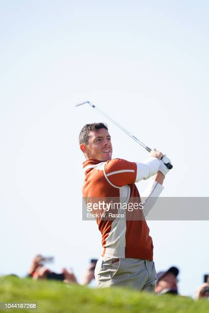 42nd Ryder Cup Team Europe Rory McIlroy in action vs Team USA during Saturday Morning Fourballs at Le Golf National Paris France 9/29/2018 CREDIT...