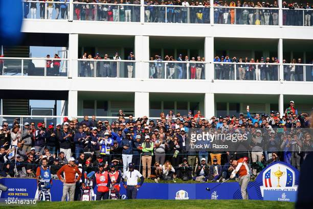 42nd Ryder Cup Team Europe Rory McIlroy vs Team USA during Saturday Morning Fourballs at Le Golf National Paris France 9/29/2018 CREDIT Erick W Rasco