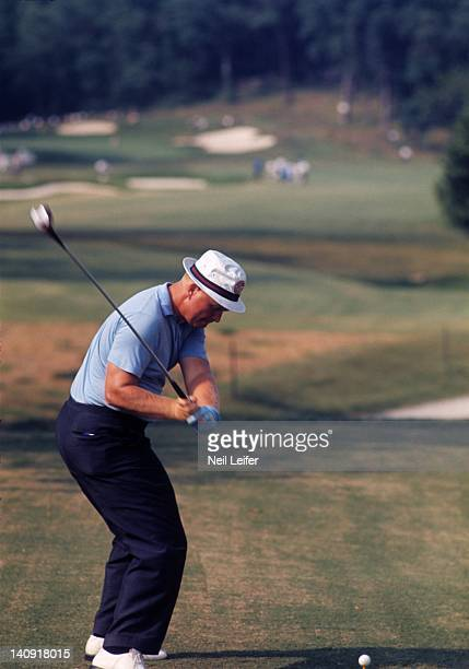 65th US Open Jack Nicklaus in action drive during tournament at Bellerive CC St Louis MO CREDIT Neil Leifer