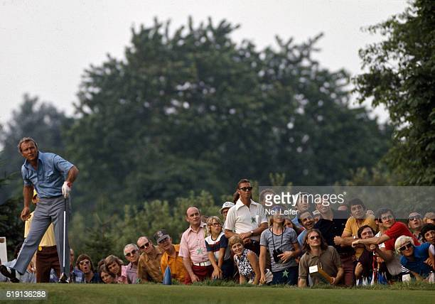 73rd US Open Arnold Palmer watches his shot during Saturday play at Oakmont CC Oakmont PA CREDIT Neil Leifer