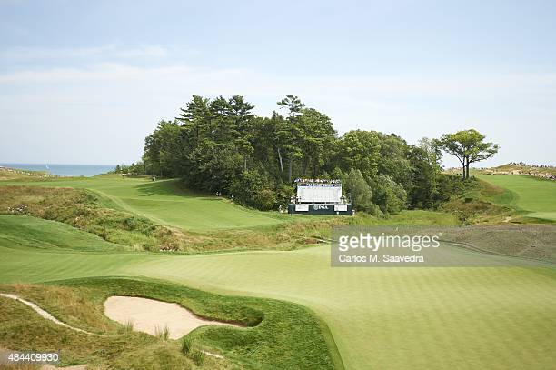 97th PGA Championship Overall view of course during Sunday play at Straits Course of Whistling Straits Scenic Kohler WI CREDIT Carlos M Saavedra