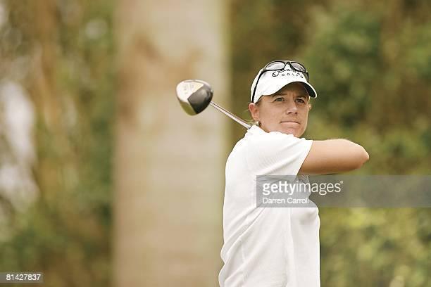 Golf ADT Championship Closeup of Annika Sorenstam in action on Sunday at Trump International GC West Palm Beach FL