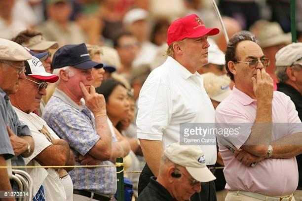 Golf ADT Championship Closeup of Donald Trump during Sunday play at Trump International GC West Palm Beach FL