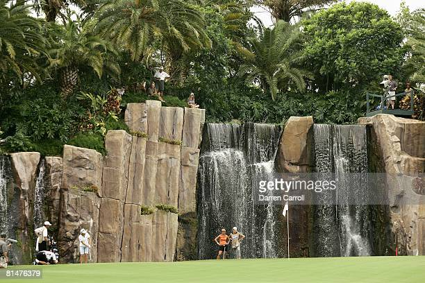 Golf ADT Championship Scenic view of Annika Sorenstam in action on Sunday at 17th hole Trump International GC West Palm Beach FL