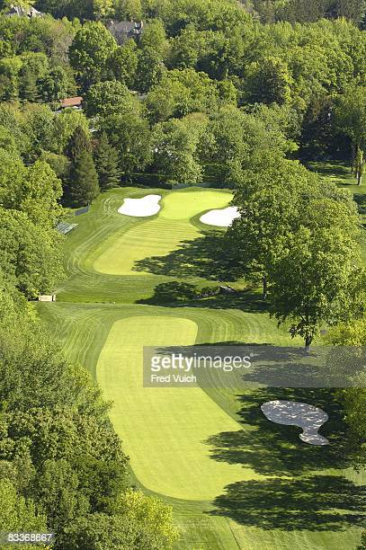 Aerial scenic view of hole at Winged Foot GC. Mamaroneck, NY 5/23/2006 CREDIT: Fred Vuich
