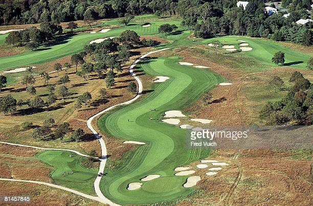 Golf Aerial scenic view of Shinnecock Hills GC before US Open Southampton NY 10/4/2003