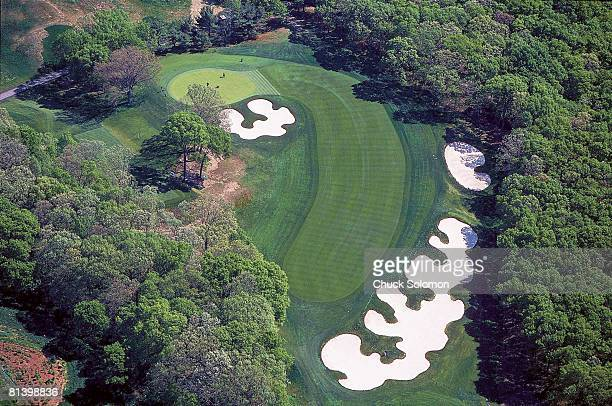 Golf Aerial view of scenic 4th hole at Bethpage Black Course Farmingdale NY 5/16/2002
