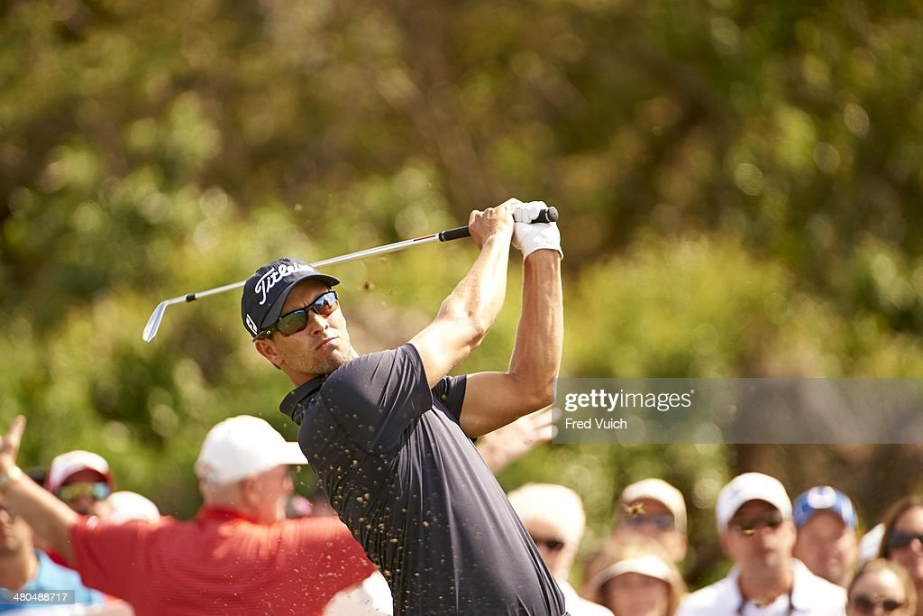 Adam Scott In Action During Sunday Play At Bay Hill Club Lodge