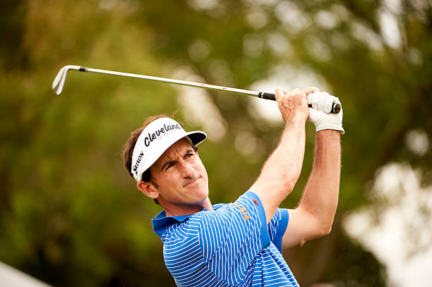 Closeup of Gonzalo Fernandez Castano in action during Saturday play at Bay Hill Club & Lodge