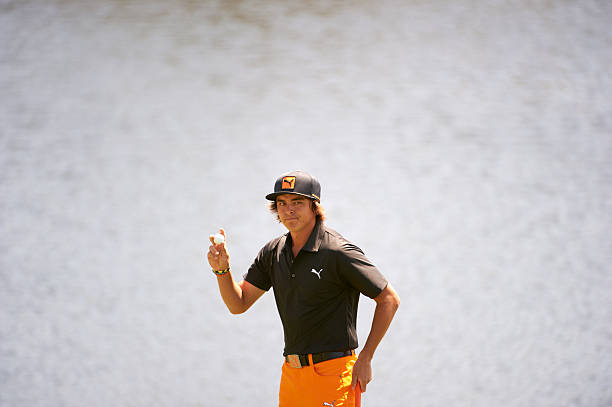 Rickie Fowler during Monday playoff at Bay Hill Club & Lodge. Fred Vuich F262 )