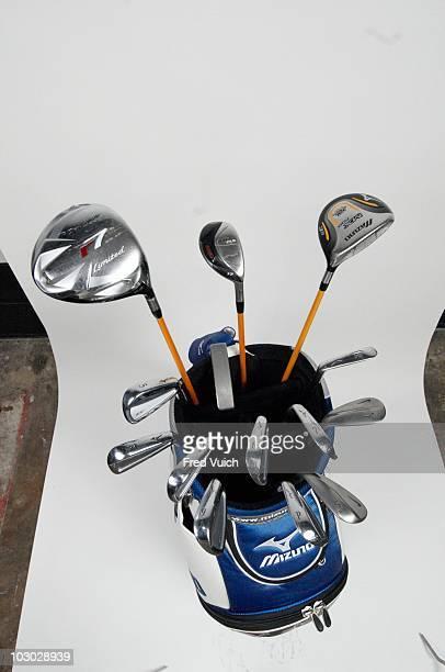 Arnold Palmer Invitational Studio shot of Mizuno golf bag and clubs of Jonathan Byrd on Tuesday before tournament at Bay Hill Club Lodge Orlando FL...