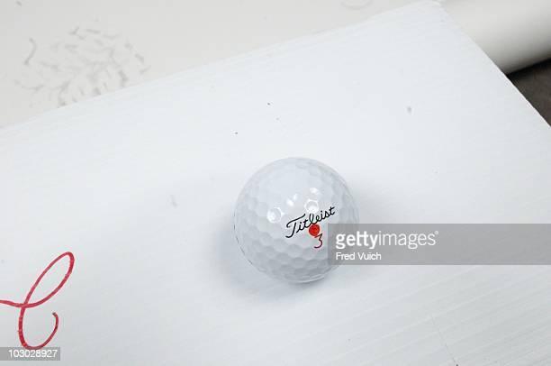 Arnold Palmer Invitational Studio shot of Titleist Pro V1x golf ball of Jonathan Byrd on Tuesday before tournament at Bay Hill Club Lodge Orlando FL...
