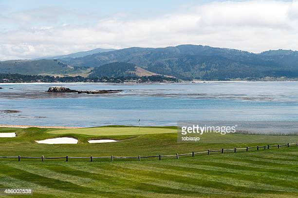 golf at pebble beach - pebble beach california stock pictures, royalty-free photos & images