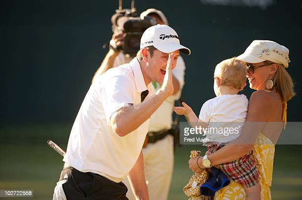 ATT National Justin Rose victorious with family after Sunday play at Aronimink GC Newtown Square PA 7/4/2010 CREDIT Fred Vuich OPR945858