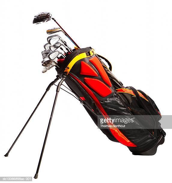 Golf bag against white background