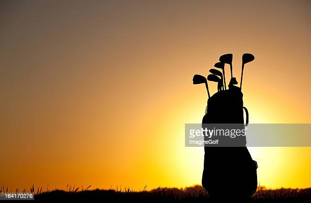 Golf Bag And Equipment Silhouette