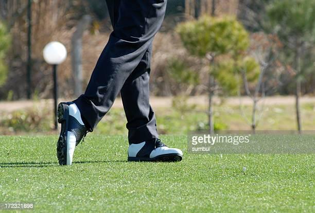 ゴルフボール後に変身します。
