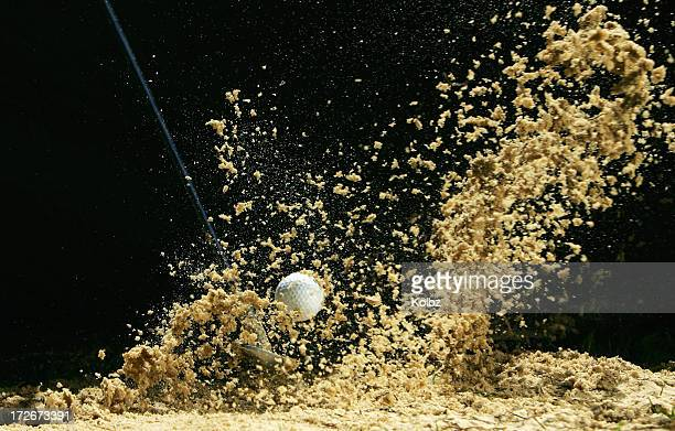 Golf Ball Being Hit