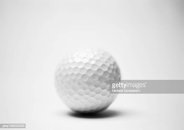 Golf ball, b&w.