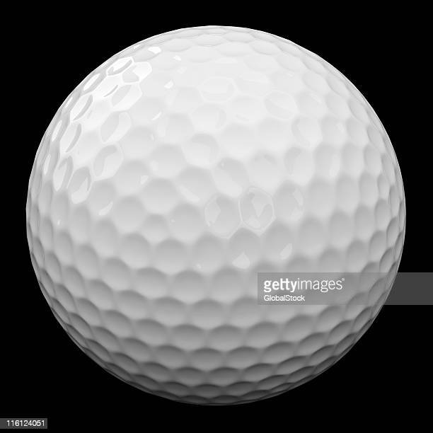 Golf ball - isolated on blac