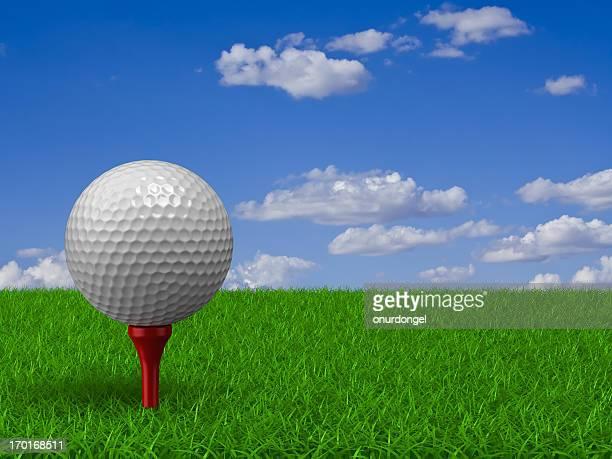 Golf Ball auf Gras