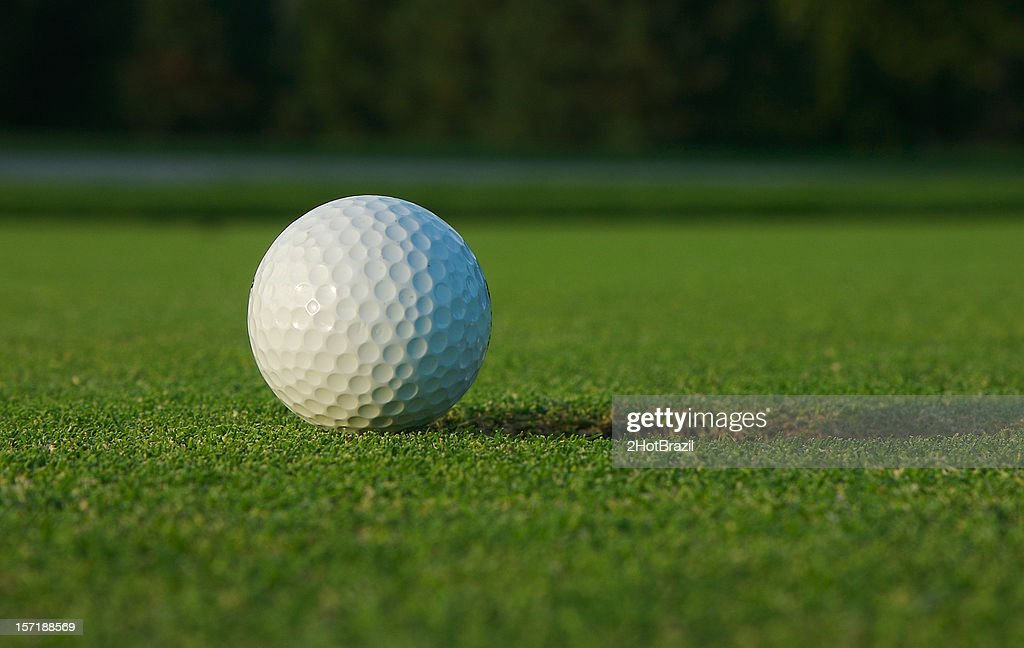 Golf Ball on Green : Stock Photo
