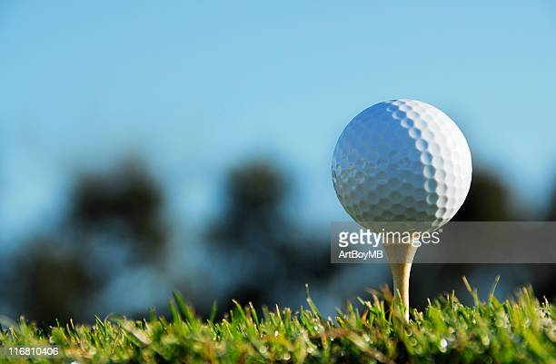 golf ball on tee - driving range stock pictures, royalty-free photos & images