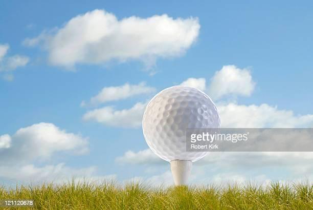 ゴルフボールの t シャツ - ゴルフのティー ストックフォトと画像