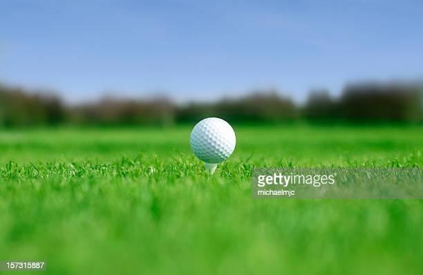 ゴルフボールの t シャツです。 - ティーグラウンド ストックフォトと画像