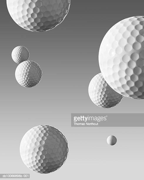 Golf balls falling from sky