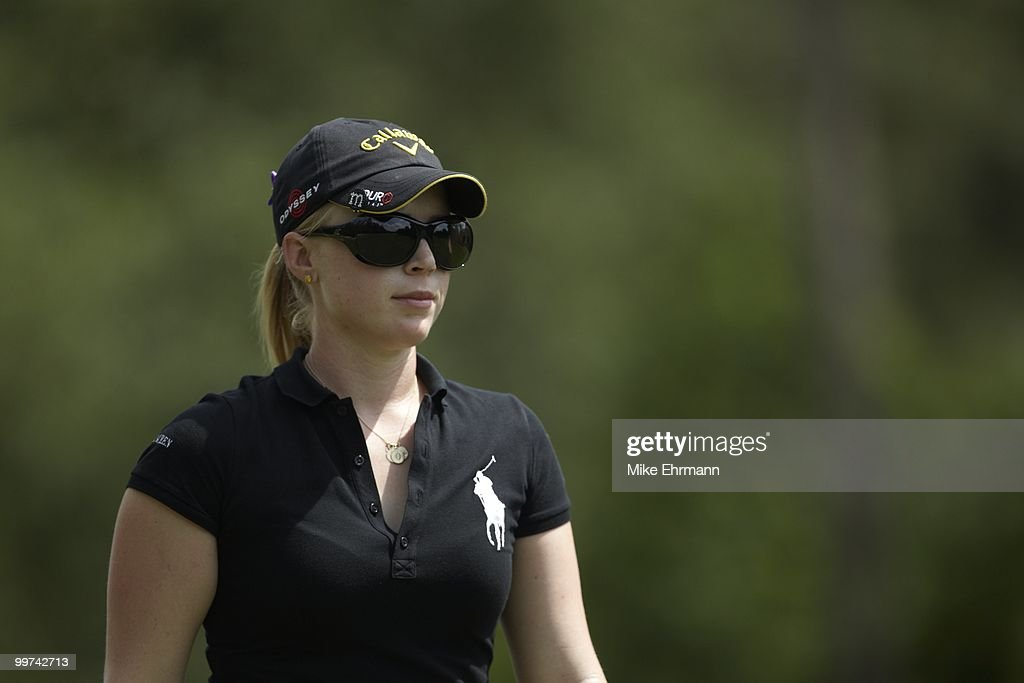 Closeup of Morgan Pressel during Thursday play at Robert Trent Jones Golf Trail at Magnolia Grove. Mobile, AL 5/13/2010
