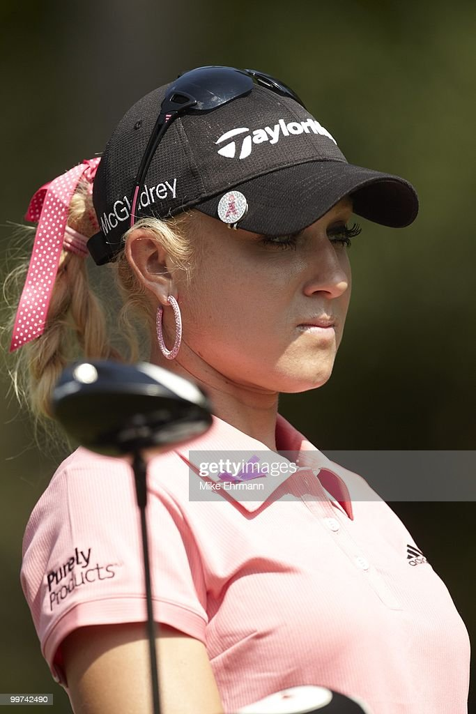 Closeup of Natalie Gulbis during Friday play at Robert Trent Jones Golf Trail at Magnolia Grove. Mobile, AL 5/14/2010