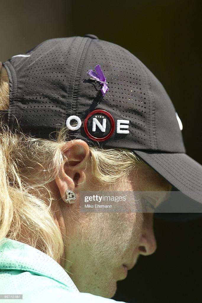 Closeup of Suzann Pettersen during Friday play at Robert Trent Jones Golf Trail at Magnolia Grove. Mobile, AL 5/14/2010