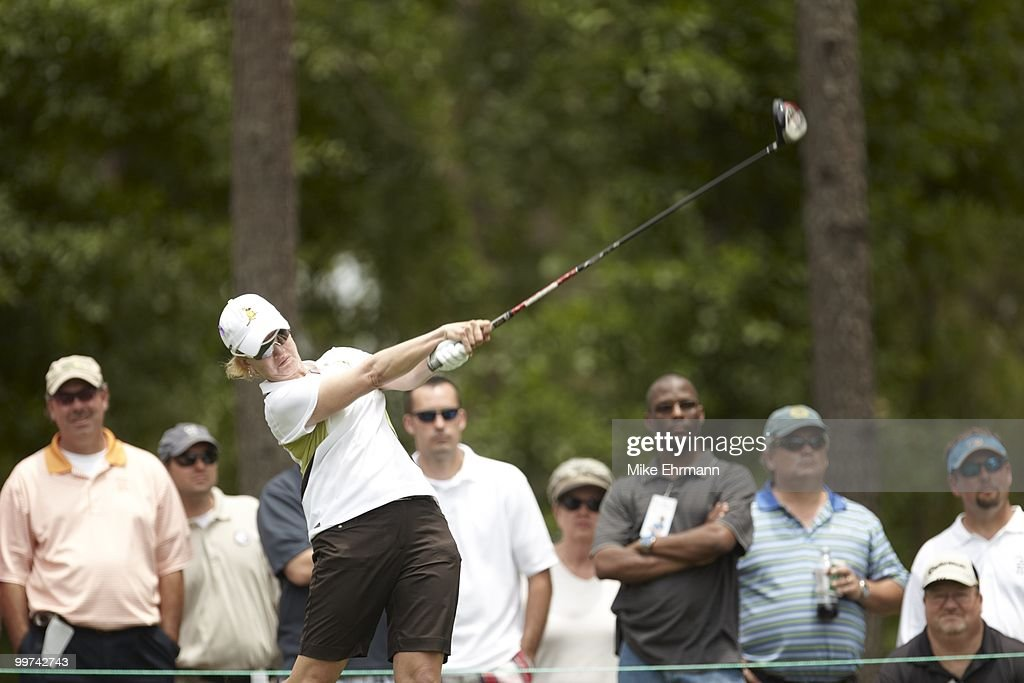 Karrie Webb in action, drive from tee on No 3 during Thursday play at Robert Trent Jones Golf Trail at Magnolia Grove. Mobile, AL 5/13/2010