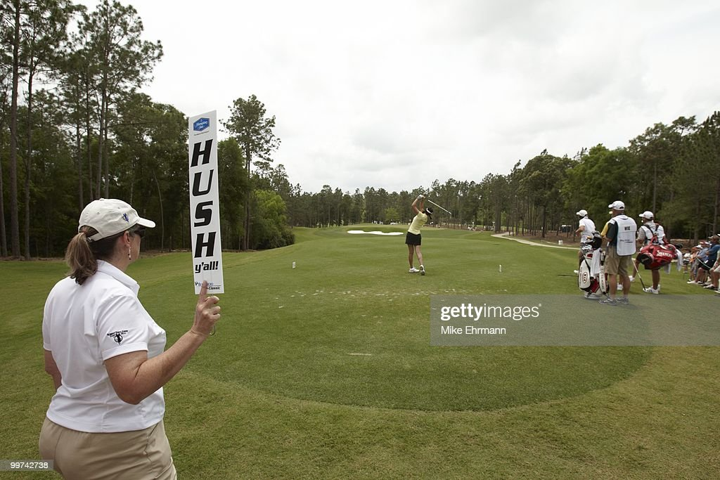 Michelle Wie in action, drive from tee on No 2 during Thursday play at Robert Trent Jones Golf Trail at Magnolia Grove. Mobile, AL 5/13/2010