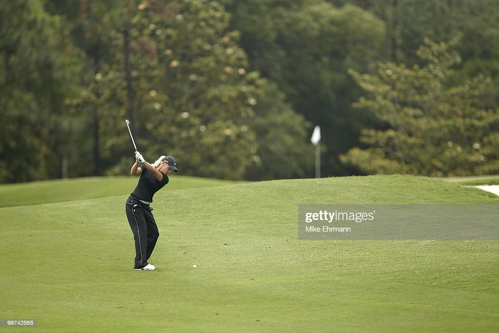 Suzann Pettersen in action on Sunday at Robert Trent Jones Golf Trail at Magnolia Grove. Mobile, AL 5/16/2010
