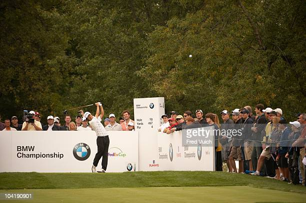 Championship: Kevin Na in action, drive from tee on No 18 during Saturday play at Cog Hill CC. FedEx Cup. Lemont, IL 9/11/2010 CREDIT: Fred Vuich